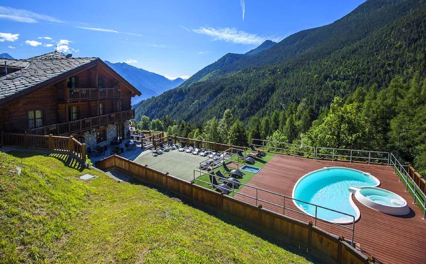 Piscina Park Hotel Mont Avic