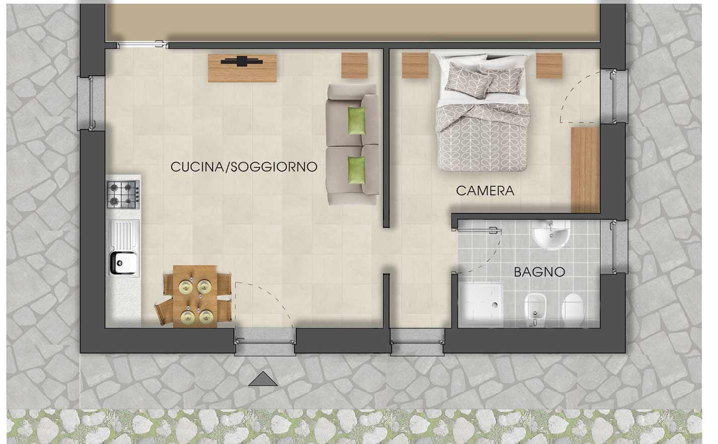 appartamenti per due Mont Avic