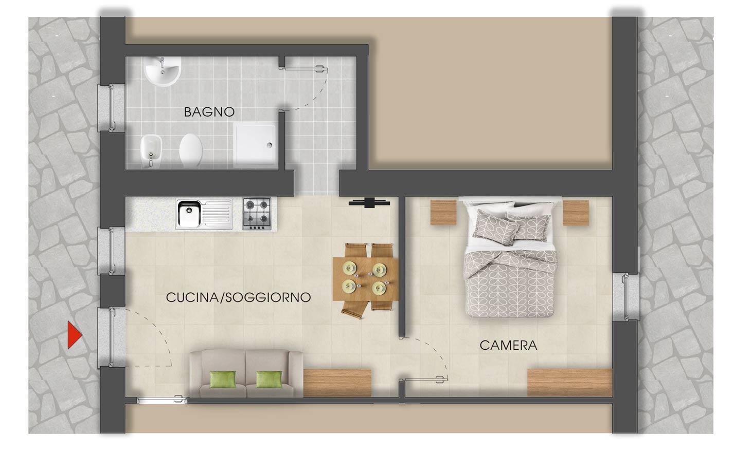 appartamenti Mont Avic Disposizione