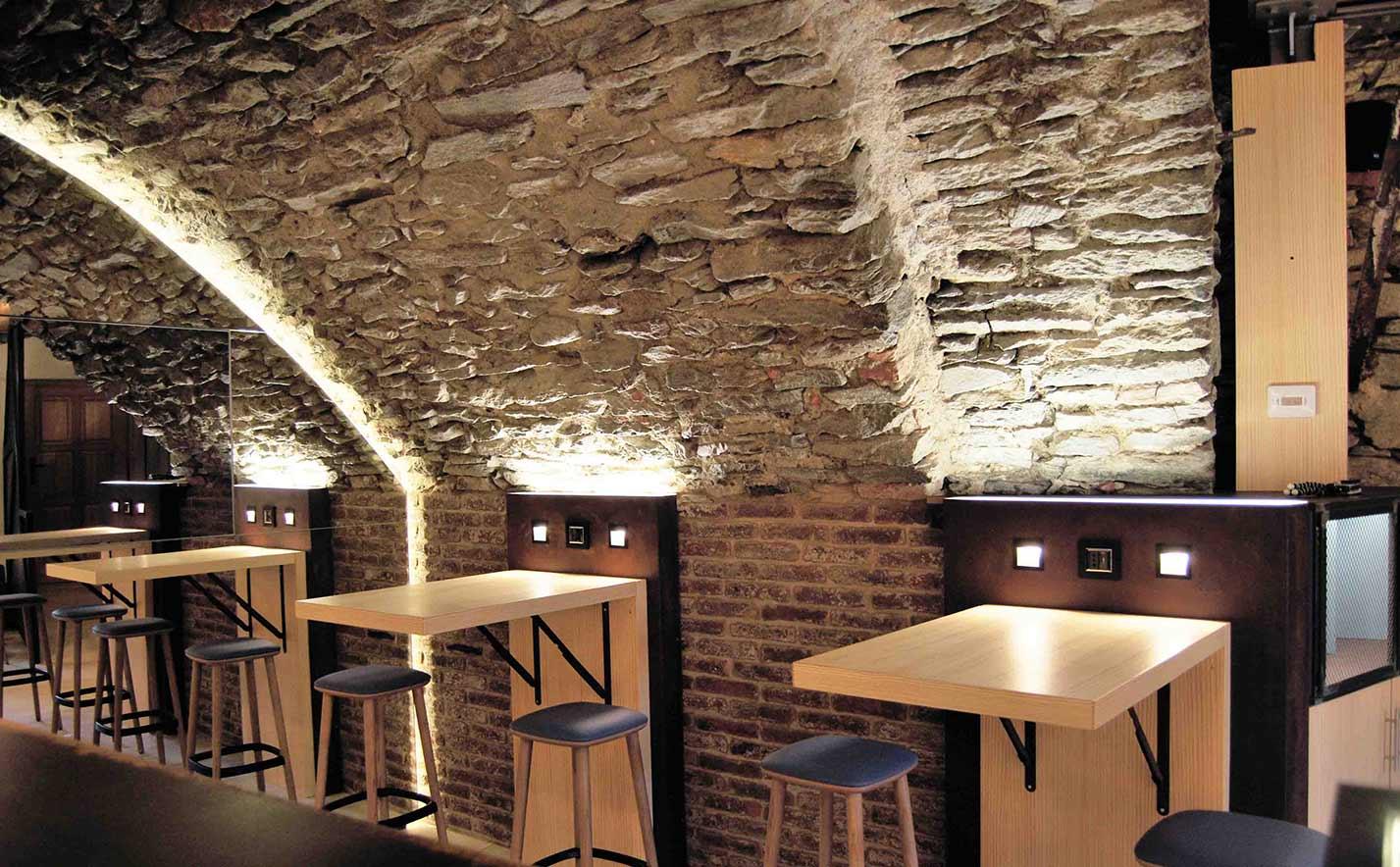 Caffetteria al forte di Bard interni